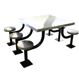 KryptoMax® 6 seat stainless steel rectangular table for intensive use (Part: KM-SPT-6REC) main view