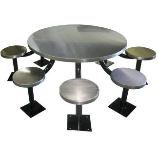 KryptoMax® eight seat round detention table main view
