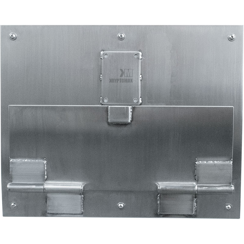 KryptoMax® Stainless Steel Food Pass Through Door viewed from front side with door closed