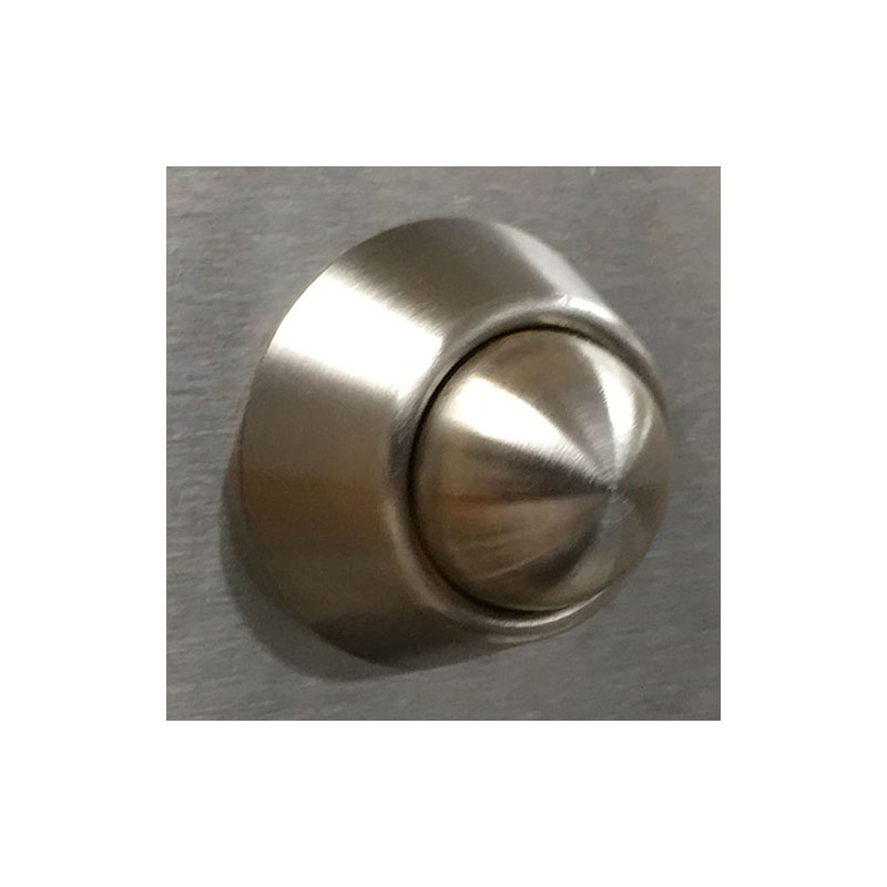 KryptoMax® stainless steel anti-ligature shower control showing push button detail