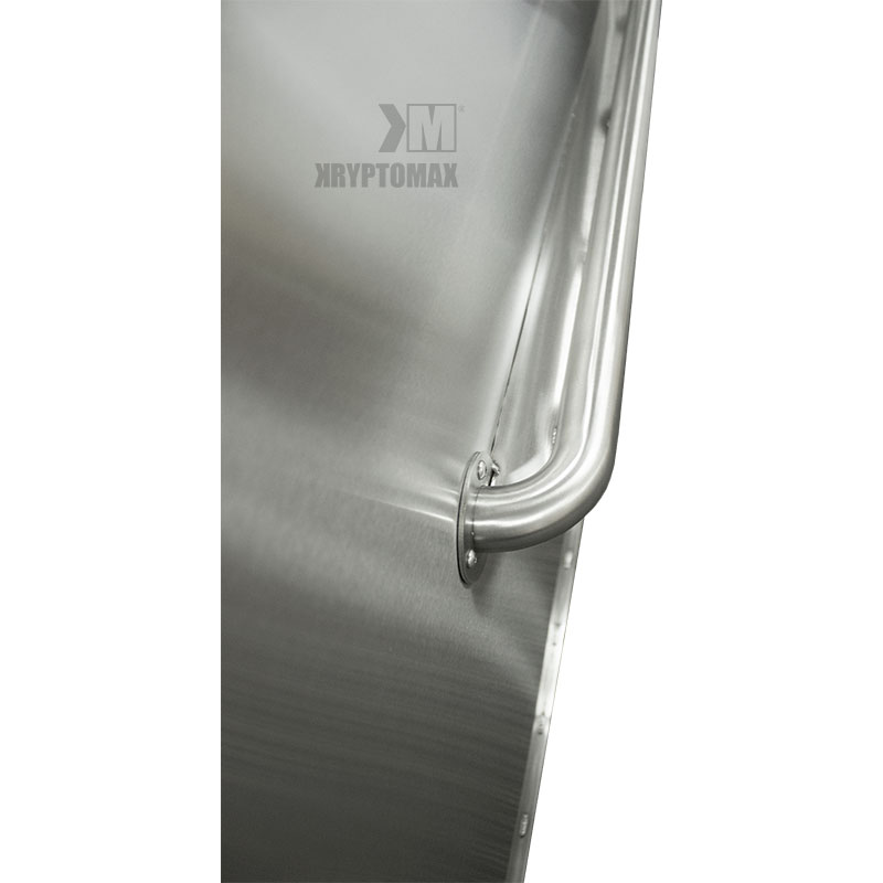 KryptoMax® ADA Compliant Stainless Steel Privacy Panel view of grab bar