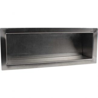 KryptoMax® Stainless Steel Recessed Storage Shelf viewed from front