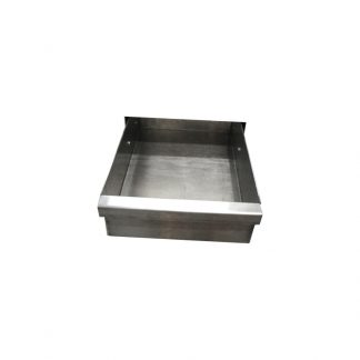 KryptoMax® stainless steel under-bunk drawer shown open from front