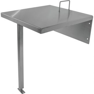 Main product view of the KryptoMax® Custom Stainless Steel Floor and Wall-Mounted Intensive-Use Desk with Restraint Ring