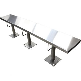 3 Person, 6 foot KryptoMax® Stainless Steel Floor Mounted Detention Bench main product image view