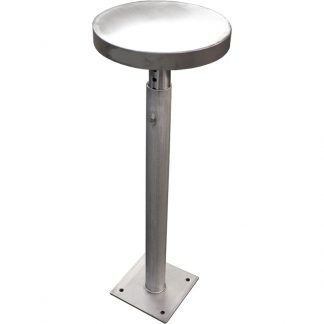 Main product image for the KryptoMax® Stainless Steel Floor Mounted Adjustable Height Stool