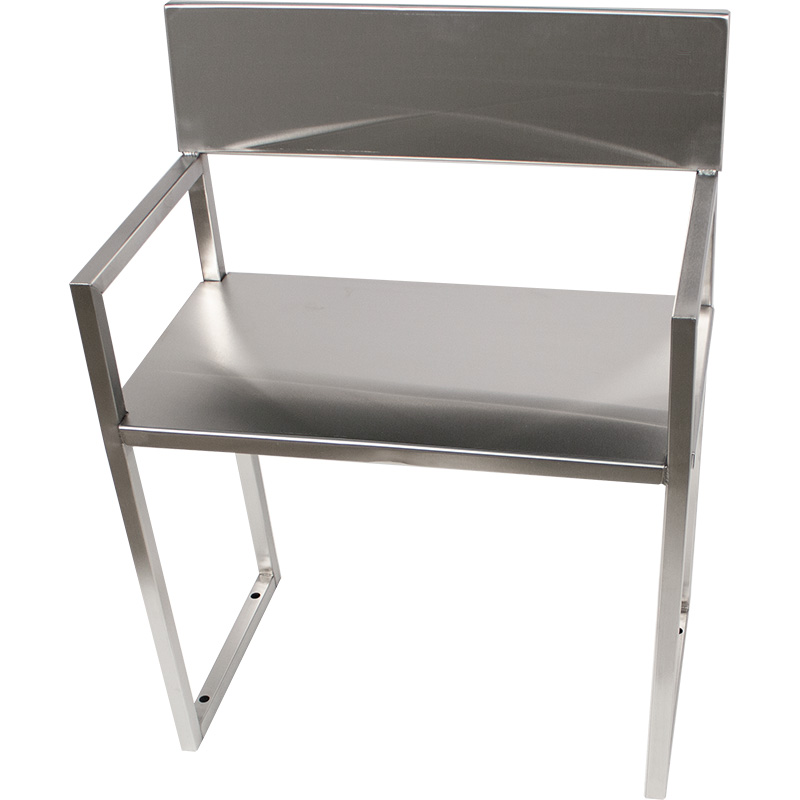 Front view of the KryptoMax® Stainless Steel ADA-Compliant Interview Chair