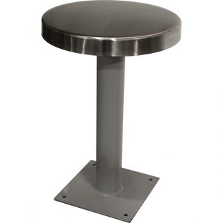 Product image of KryptoMax® economy detention stool with stainless steel stool top