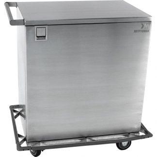 KryptoMax® Stainless Steel 1 Door Detention Medical Cart shown from door side