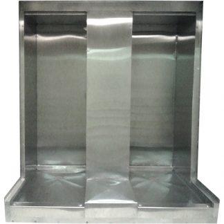 Two KryptoMax® Stainless Steel Detention Showers installed in jail shower room