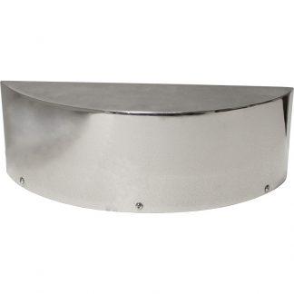 KryptoMax® Stainless Steel Detention Surveillance Mirror shown from front