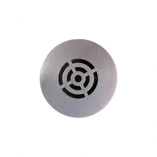 KryptoMax® Stainless Steel Tamper-Resistant Shower Drain cover shown without plumbing stub-out
