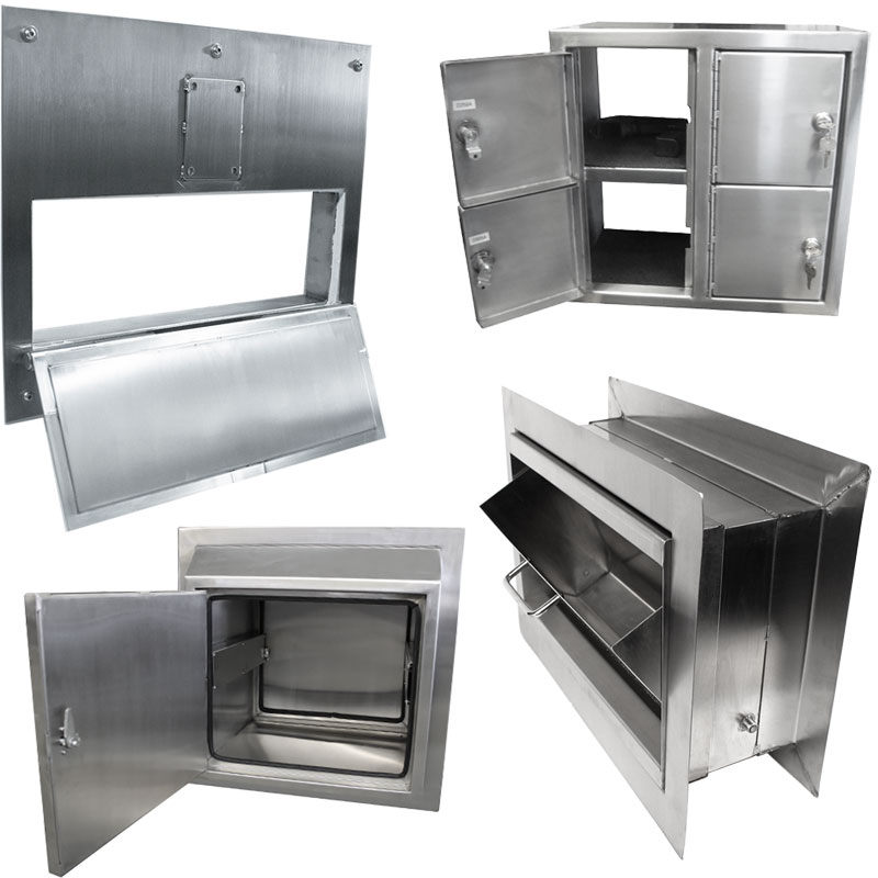 Product category image of various KryptoMax® stainless steel access and pass-through solutions for intensive use