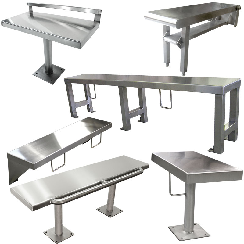 Bench product category image with many KryptoMax Intensive use bench types shown