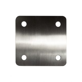 A custom KryptoMax® Stainless Steel Wall-Mount Plate shown from front